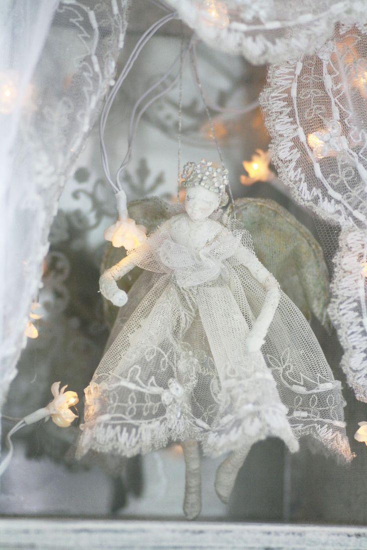 lace doll/fairy lights