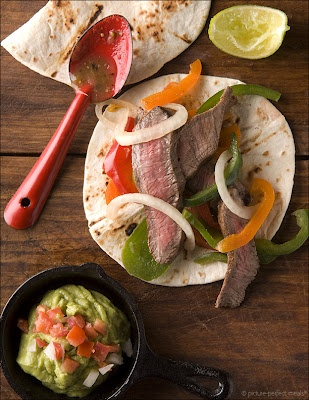 Grilled Flat Iron Steak Fajitas | Tacos | Pinterest