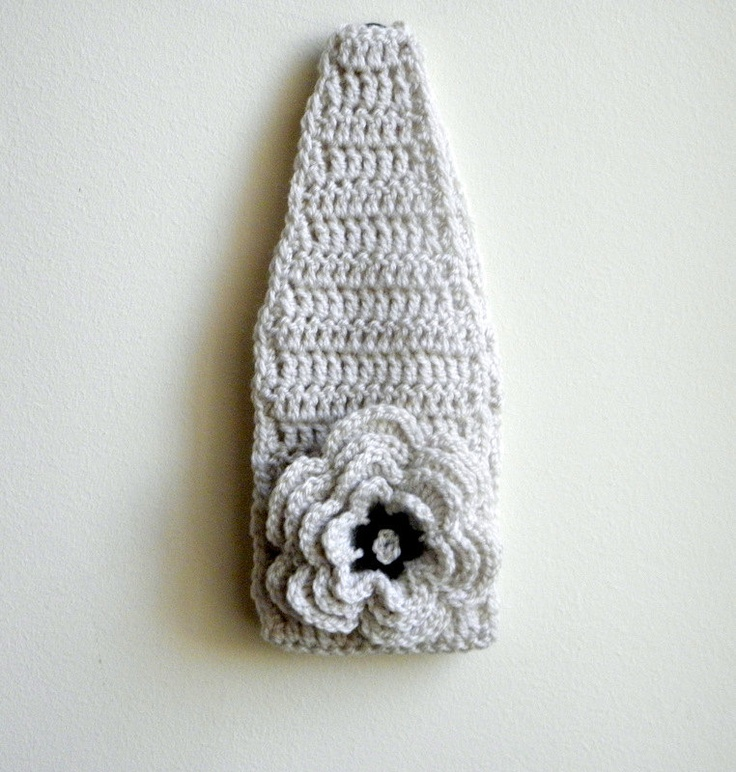 Crochet Headband With Flower Pattern Tutorial : PDF crochet pattern - DIY tutorial - headband / earwarmer ...