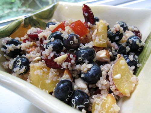 High Protein Quinoa Almond Fruit Salad | Mixed GREENS, Mixed FRUITS ...