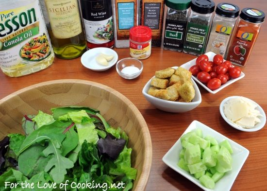 ... the Love of Cooking » Mixed Green Salad with an Italian Vinaigrette