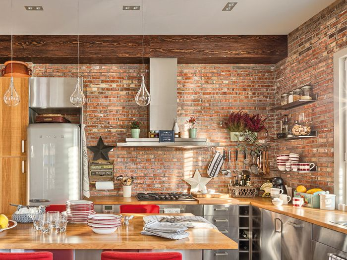 Exposed Brick Kitchen Brick Lover Pinterest