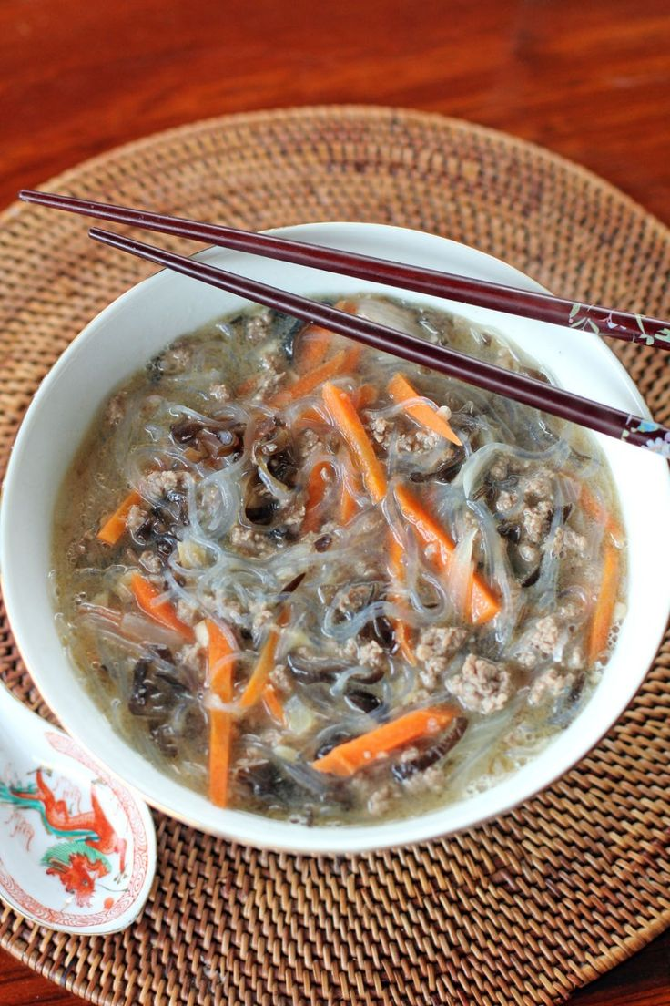 Glass Noodles Soup with Minced Beef | Filipino Food | Pinterest