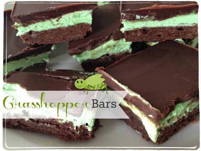 Grasshopper Bars | Bar Recipes | Pinterest