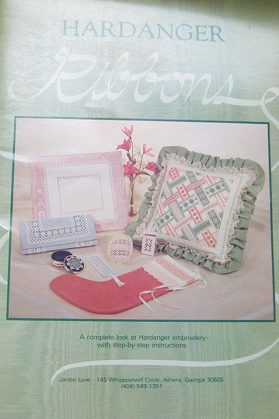 Hardanger embroidery ribbons pattern book janice by thehowlinghag 9 95