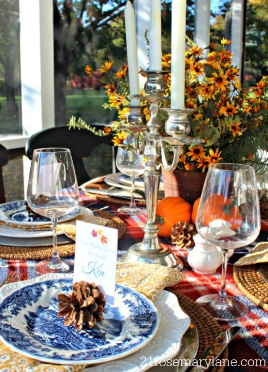 Thanksgiving Vignette ~ The Thankful Table