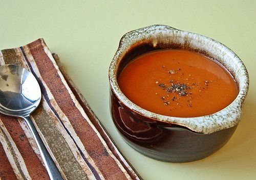 Vegan tomato soup. I've missed eating tomato soup and grilled cheese ...
