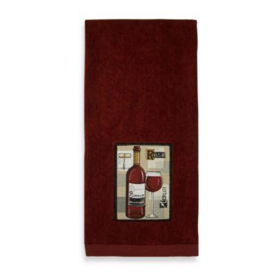Fine red wine applique kitchen towel bedbathandbeyond