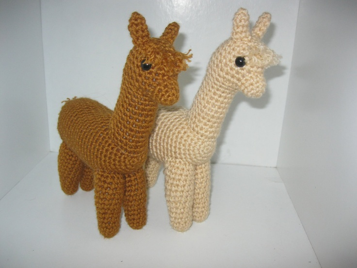 Alpaca Amigurumi Crochet Patterns : MADE to ORDER Crochet Realistic Alpaca Farm Animal ...