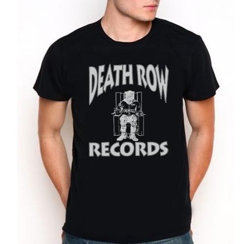 Death row records logo hip hop rap custom black t shirt tee all size