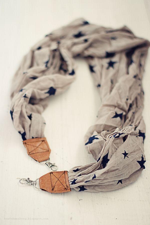 DIY camera strap/scarf