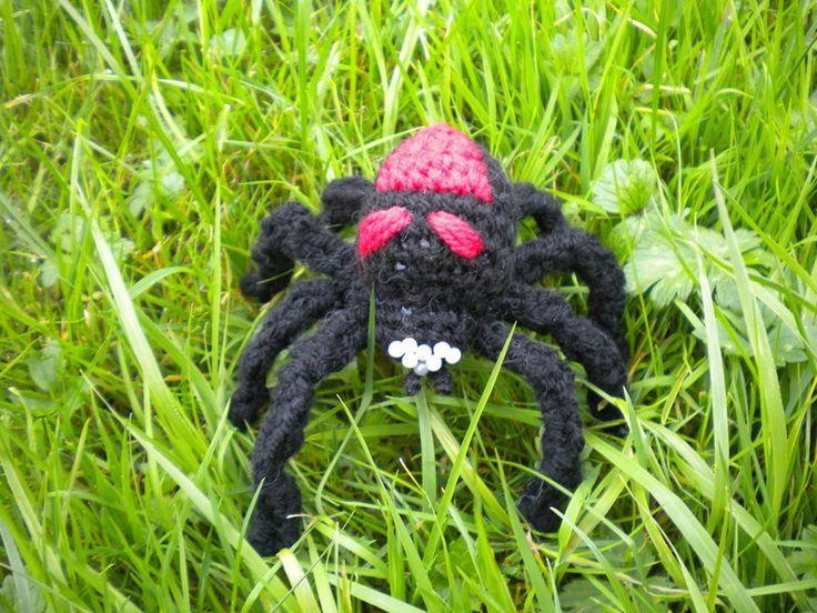 Amigurumi Spider Pattern : Amigurumi Halloween schwarze Witwe Anleitung