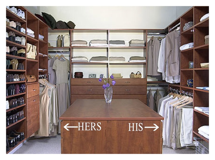 Smart placement his and hers closet ideas house plans for His and hers closet