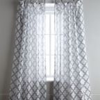Linen curtain ivory platinum contemporary curtains by west elm