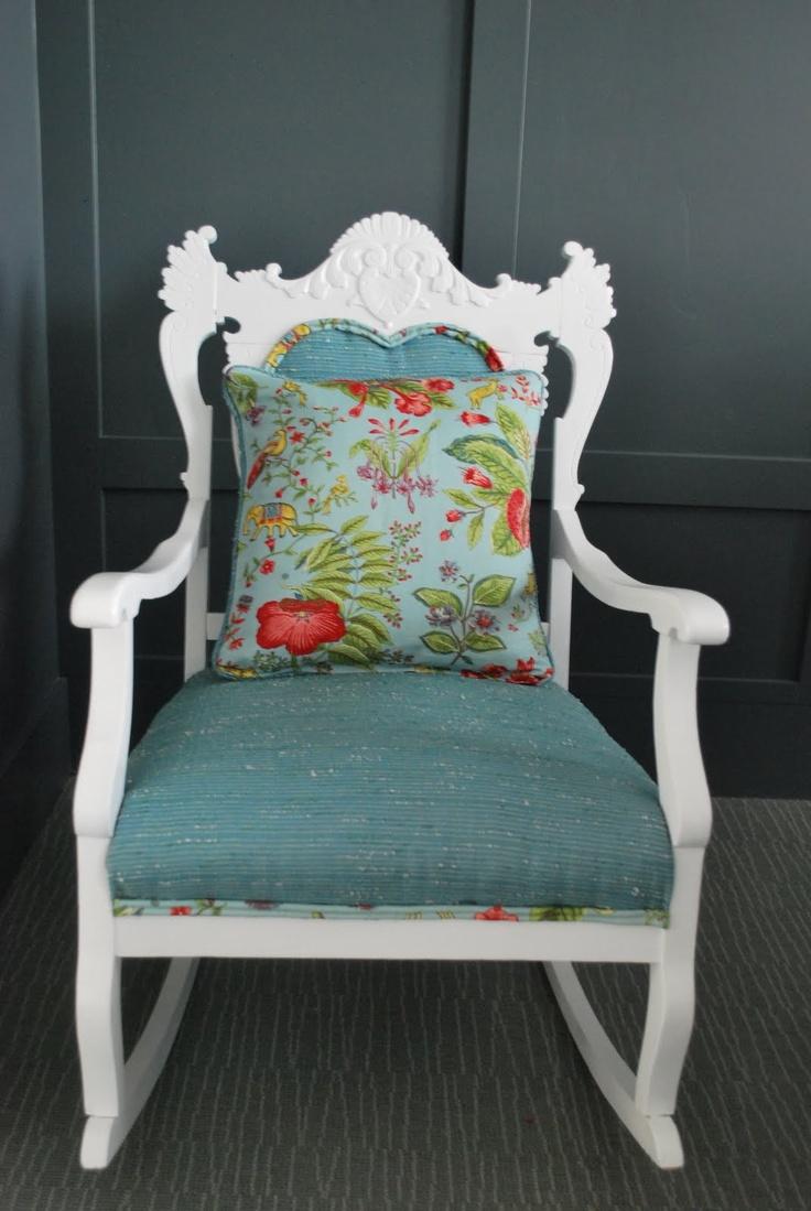 Rocking chair makeover  Ruggustólar  Pinterest