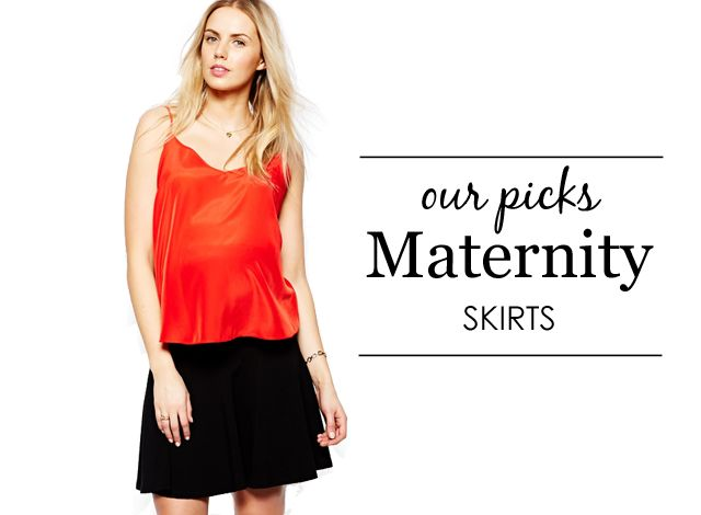Maternity Skirts {Project Nursery's Picks} #maternity #style
