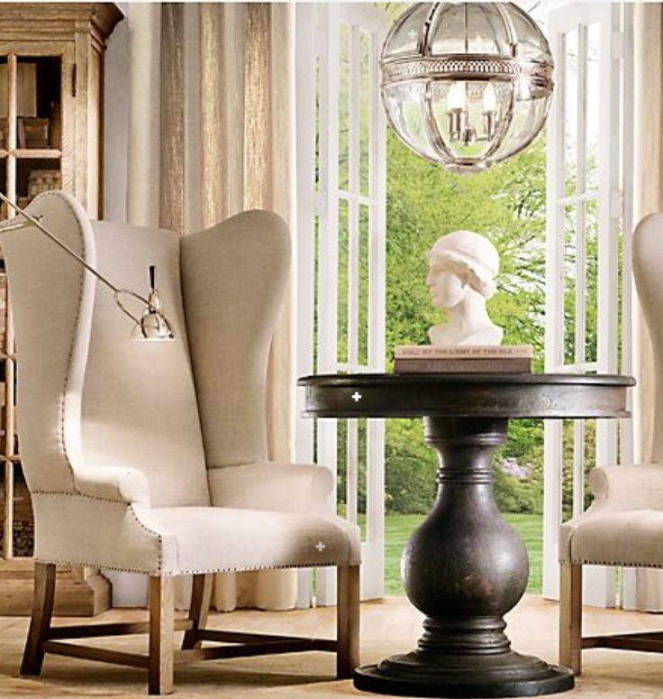 Round foyer table by restoration hardware dream house pinterest - Restoration hardware entry table ...