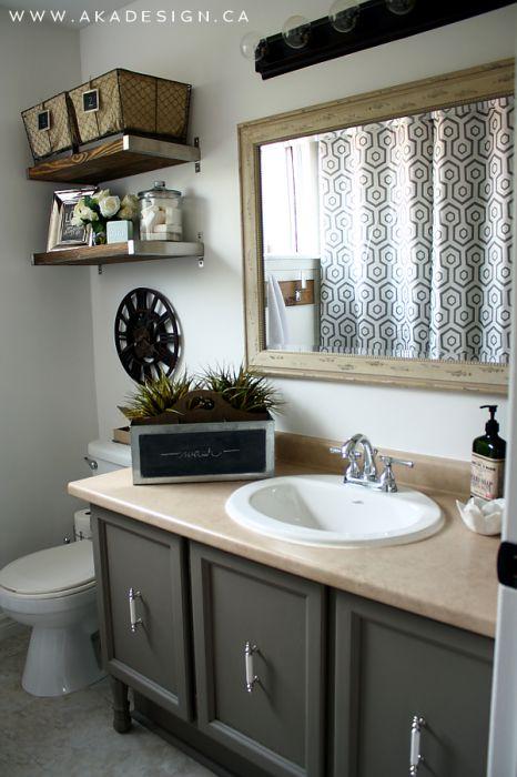 Vanity 466x700 vintage industrial glam bathroom reveal