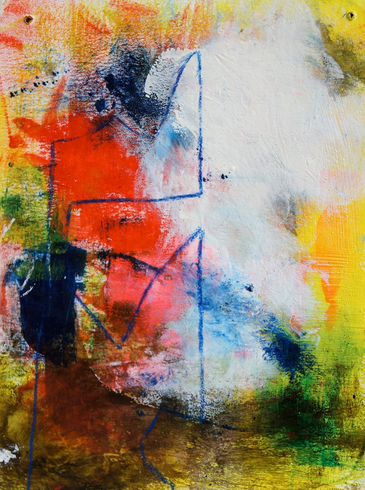 Abstract Expressionist Painting | Crafty Bean | Pinterest