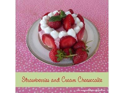 Strawberries and Cream Cheesecake | Favorite Recipes | Pinterest
