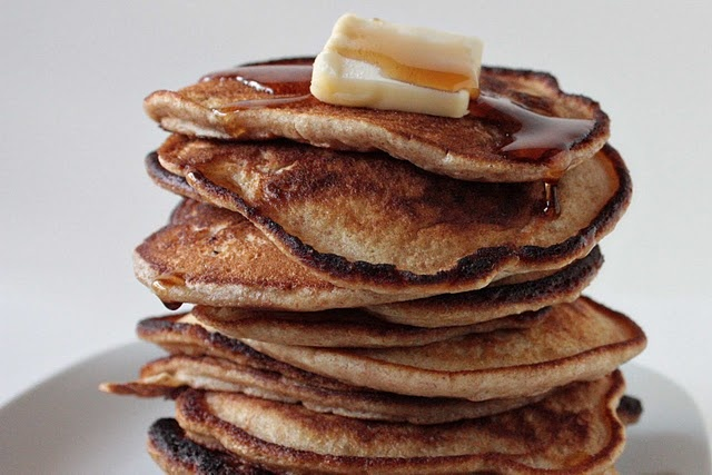 whole wheat pancakes (these were pretty good, much fluffier than I ...