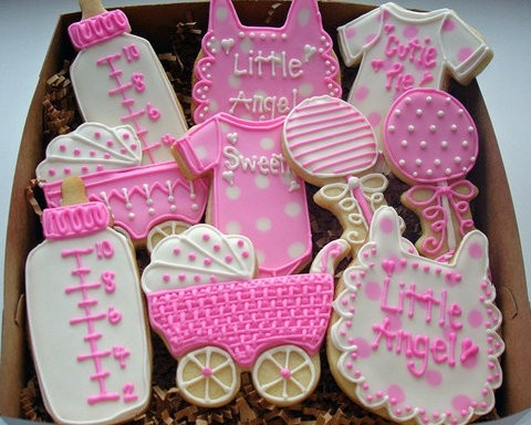 cute babyshower cookies for a baby girl baby showers pinterest