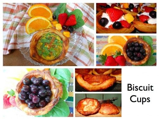 Biscuit cups! Fill them with almost anything: fruit, chili, make a ...