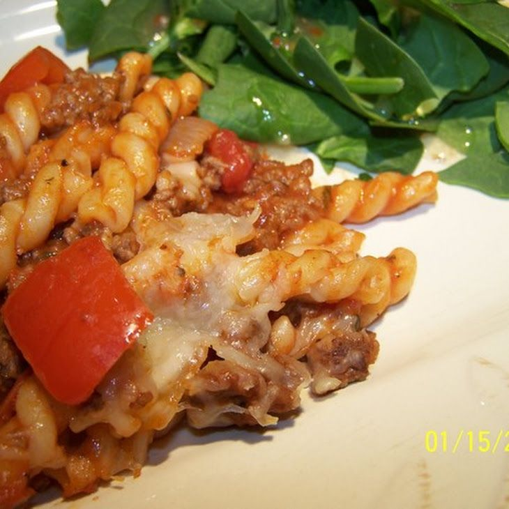 Pasta With Ground Beef and Tomato Recipe | recipes | Pinterest
