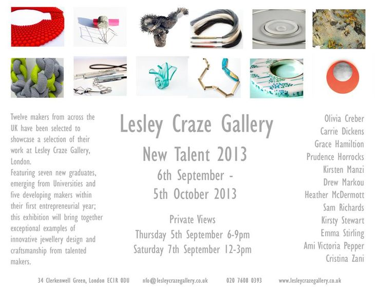 Lesley Craze Gallery - New Talent 2013