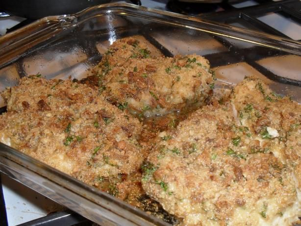 Baked Chicken Parmesan from Food.com: A little different recipe for ...