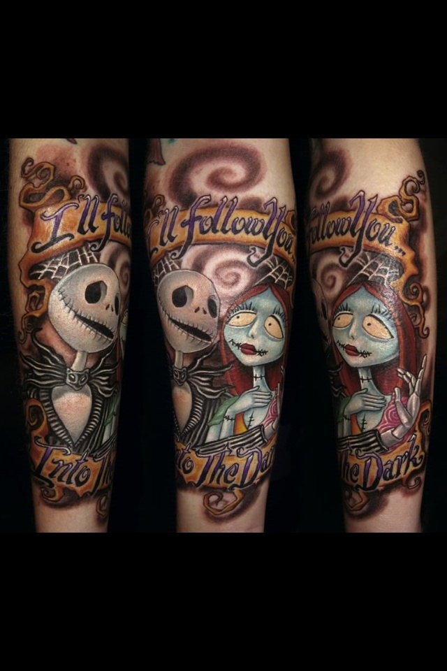 Jack Sewing Sally's Heart Tattoo