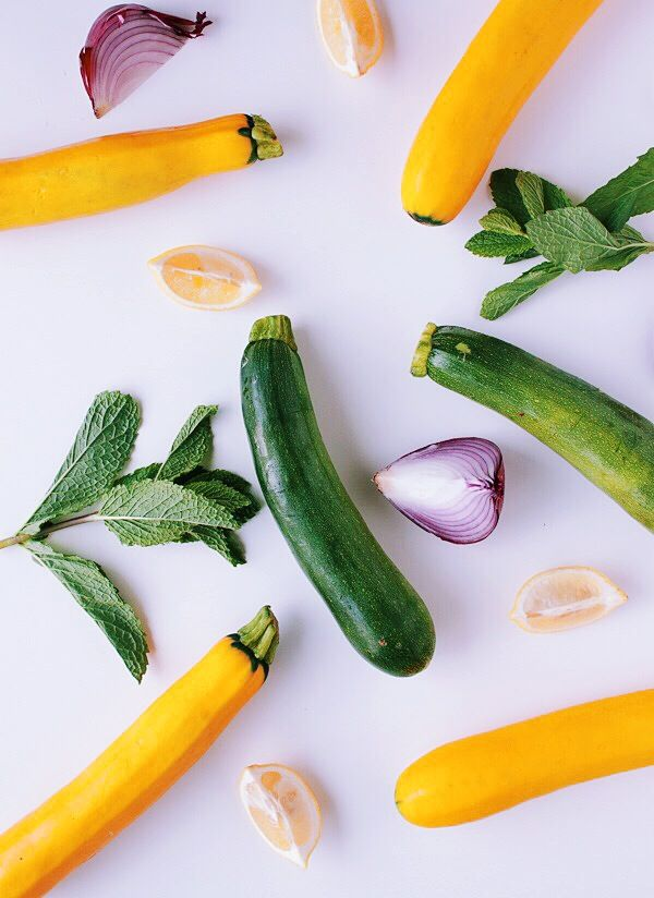 Food Photography: Shaved Summer Squash Salad with Goat Cheese & Mint ...