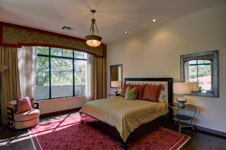 Burgundy And Gold Master Bedroom In DC Ranch