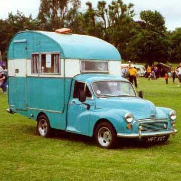 1960 Morris Minor camper truck.