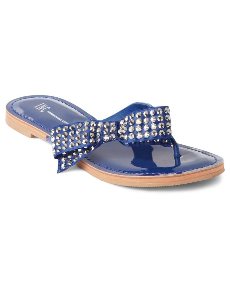 INC International Concepts Shoes, Giselle Thong Flat Sandals - Shoes