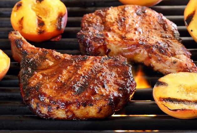 Paleo Pork Chops with Cherry Barbecue Sauce