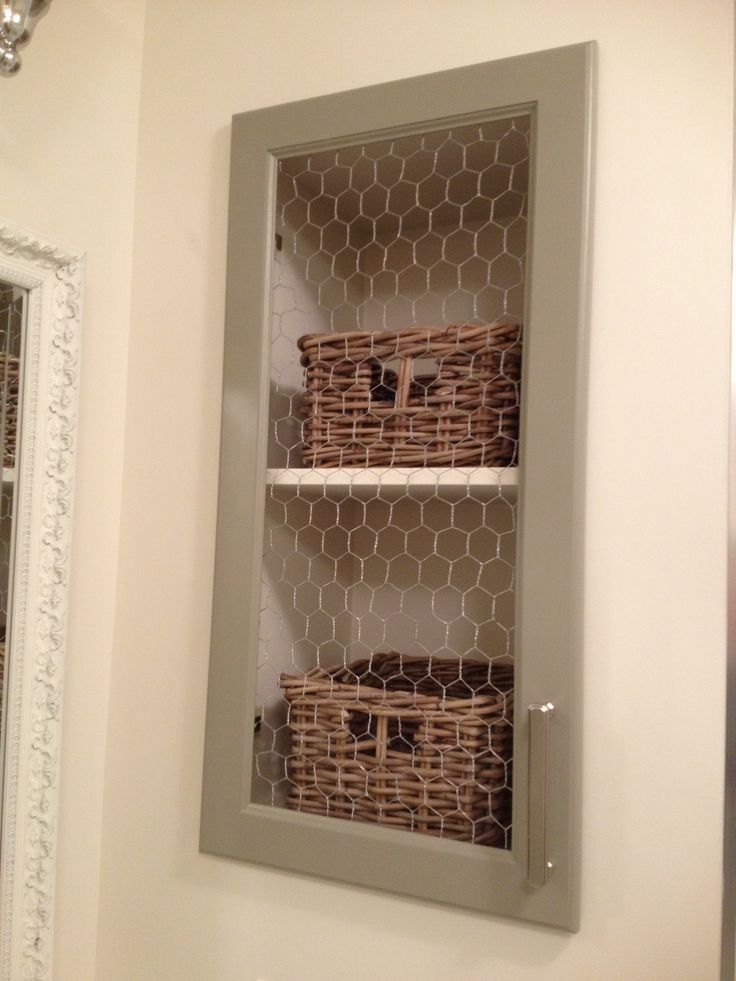Cabinet Door With Chicken Wire Diy Pinterest