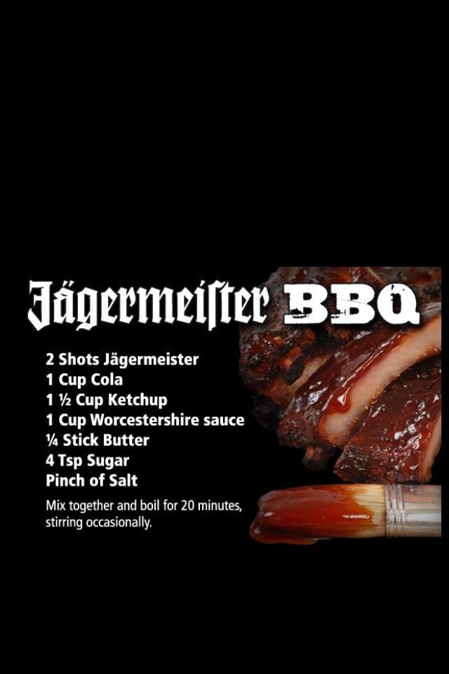 Jagermeister BBQ Sauce  Food Pinterest