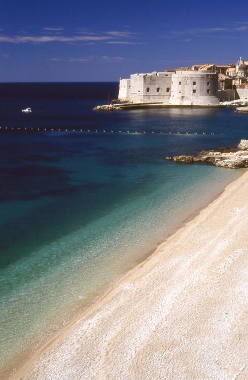 Playa de St. John, Dubrovnik - Croacia.