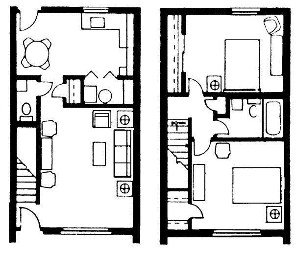 2 bedroom townhouse floor plan house plans pinterest for 2 bedroom townhouse