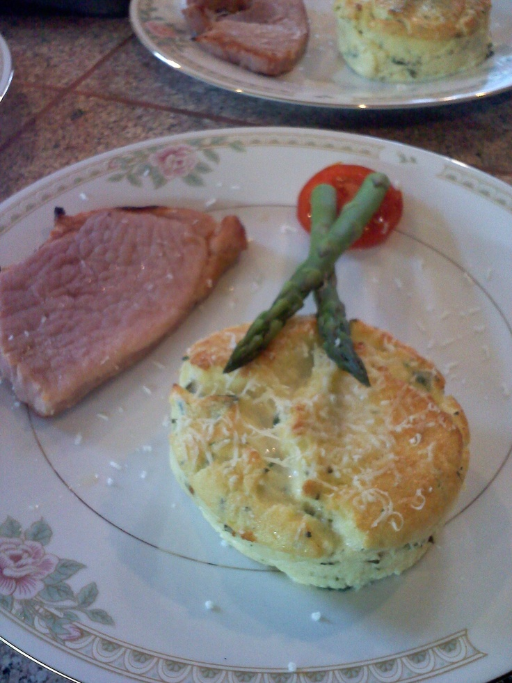 Our herb and cheese soufflé goes well with ham steak or our homemade ...