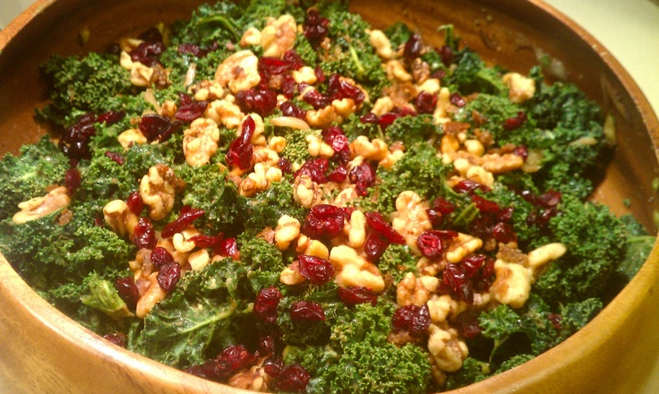 Everyday Champagne: Balsamic Raw Kale Salad. Raw kale gets massaged ...