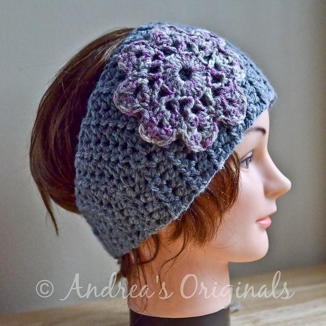 Flower Head Wrap and Warmer pattern by Andrea Harrison