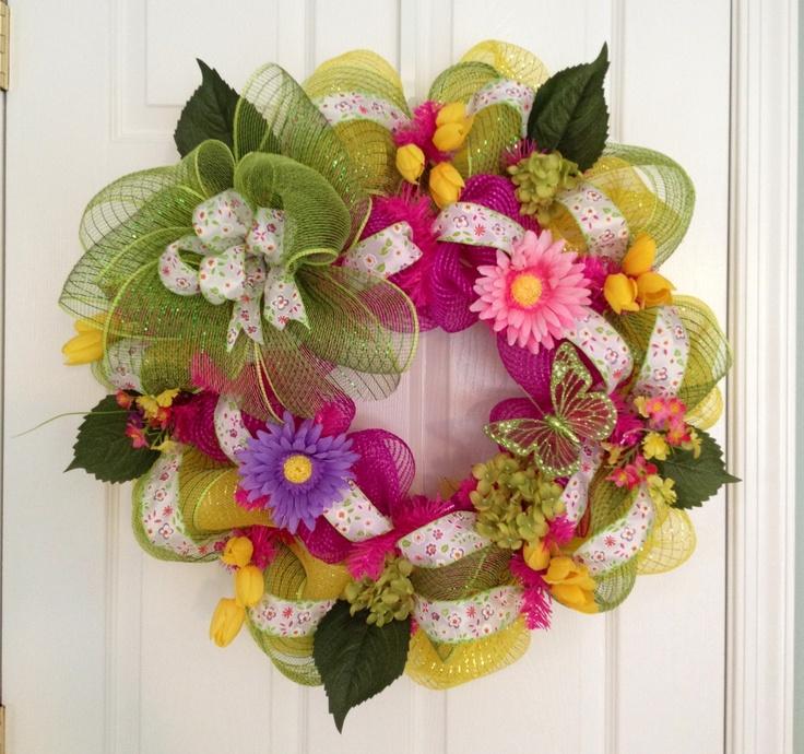 Summer Spring Wreath Ideas Pinterest