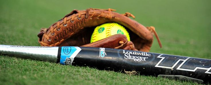 Softball Glove And Ball