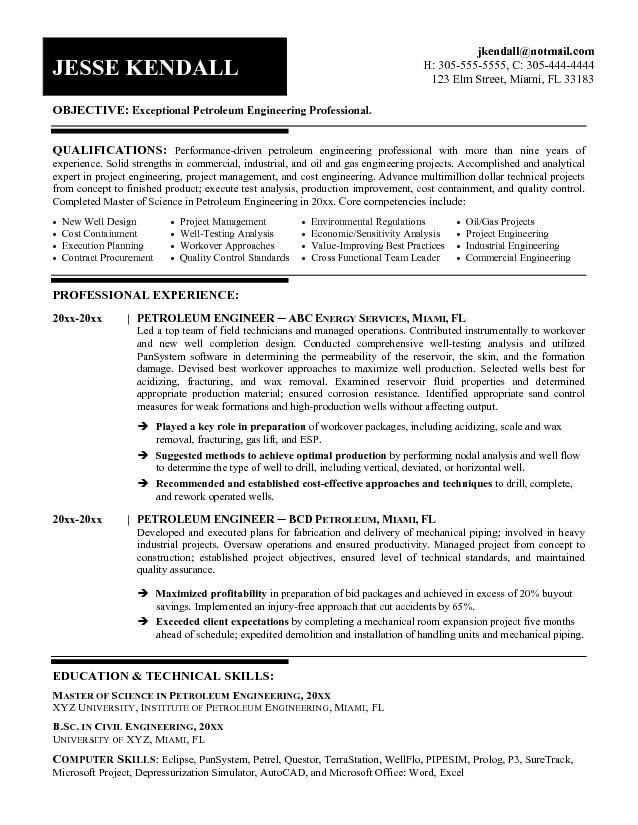 Resume For College Engineering Student