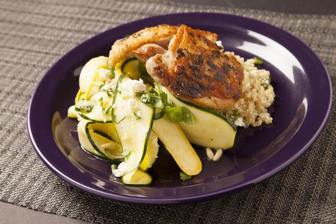 Zucchini & Yellow Squash Ribbons With Daikon, Oregano & Basil Recipes...