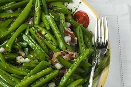 Snap Pea Salad with Mint, Pancetta, and Pecorino: This is one of my ...