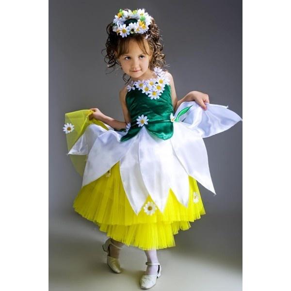 Костюм ромашки для девочки своими руками из подручных материалов