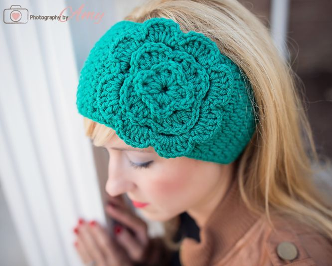 Free Crochet Headband Patterns : Headband crochet with free pattern! Crafts Pinterest